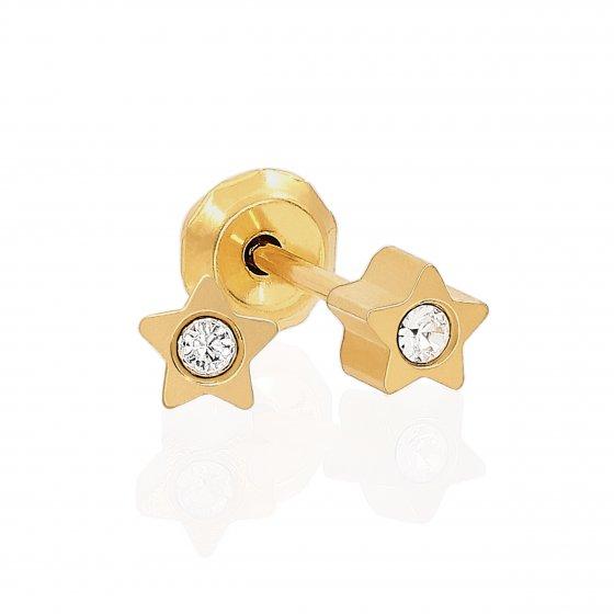 Brinco Sensitive Estrela Dourada 24