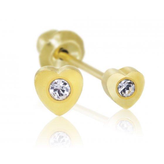 Brinco Sensitive Coração Dourado 25