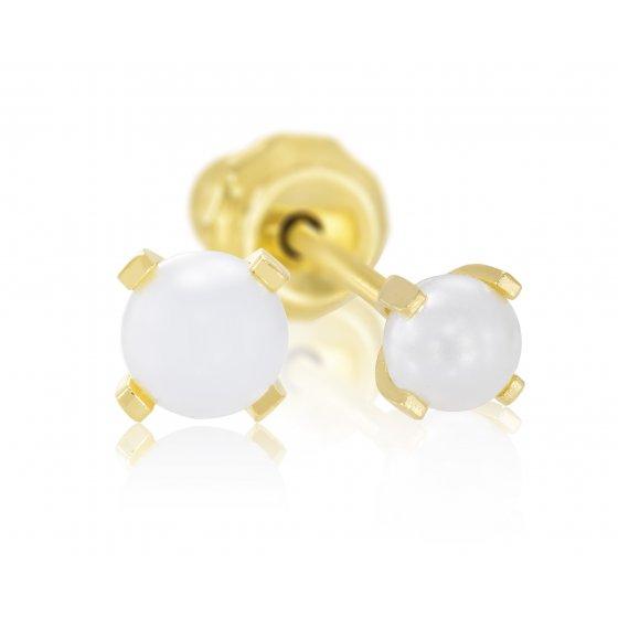 Brinco Sensitive Perola dourada 40
