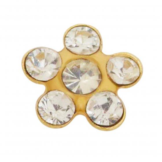 Brinco Sensitive Flor dourada 805