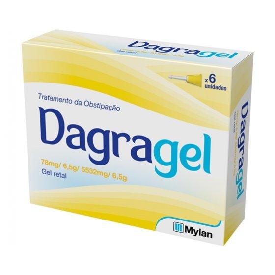 Dagragel, 0,078/5,532 g gel rectal bisnaga (6 unidades)