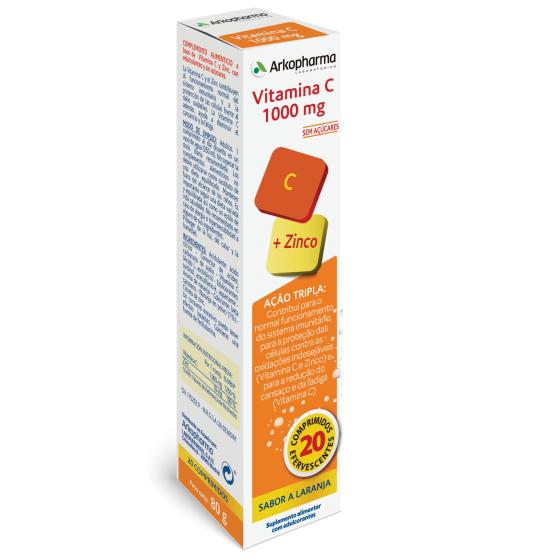 ARKOPHARMA Vitamina C 1000mg+Zinco  20 Comp Eferv