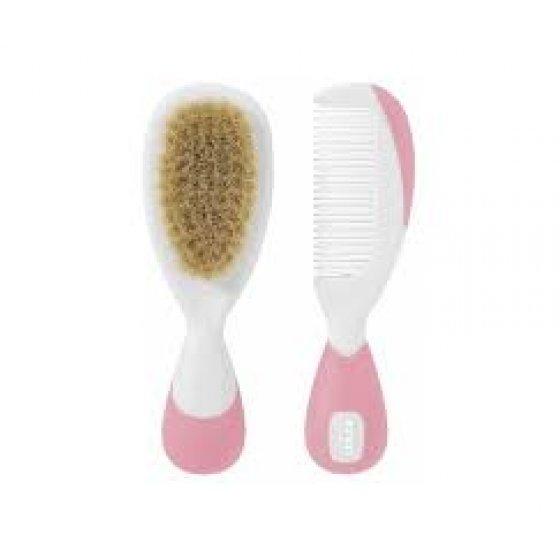 SARO Higiene Escova e Pente Cerdas Naturais