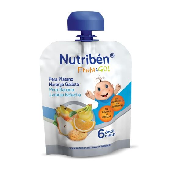 Nutriben Fruta Go Pure Pera/Bana/Lar/Bol90g
