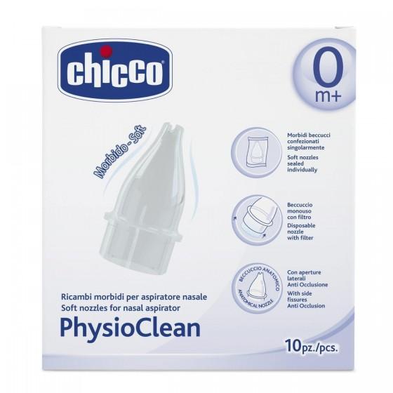 Chicco Physioclean Aspirador Nasal Recargas 10 Unidades