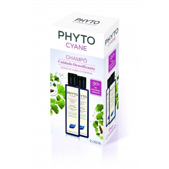 Phyto Phytocyane Duo Champô densificante 2 x 250 ml com Desconto de 50% na 2ª Embalagem