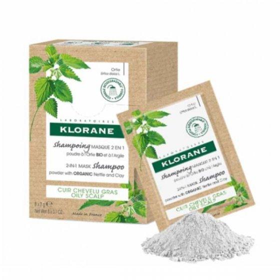 Klorane Shampoo/Máscara Ortiga/Argila 8 Unidades