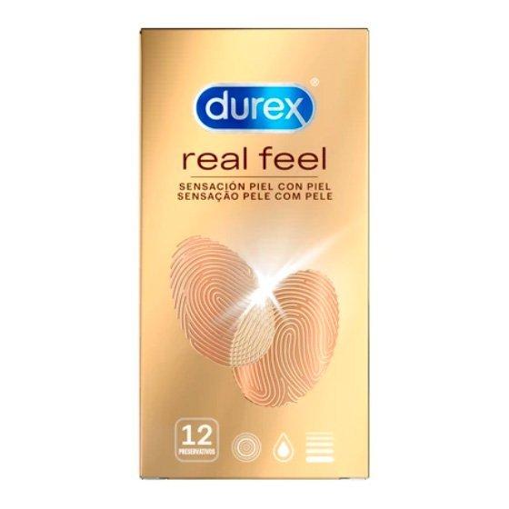 Durex Real Feel Preservativo  X12