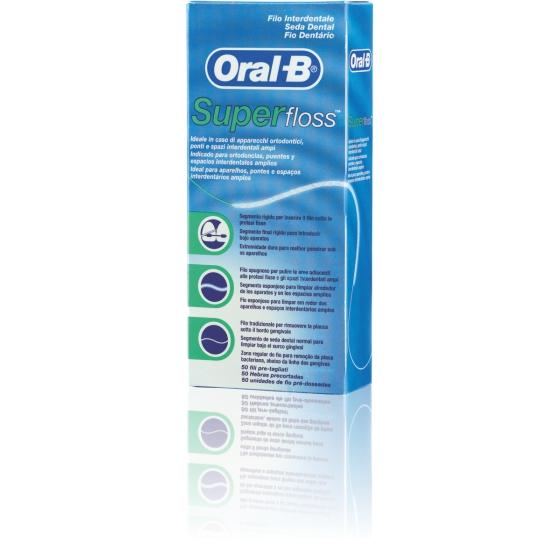 Oral-B Super Fio Dentário, Pré-cortado 50 Unidades