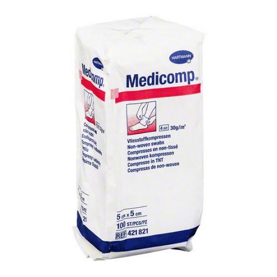 Medicomp® Compressa de gaze em tecido não tecido 5x5 Cm X 100 compressas