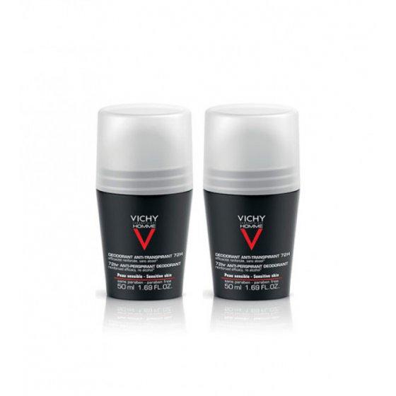 Vichy Homme Duo Desodorizante Controlo Extremo 72h 2 x 50 ml com Desconto de 2.5€
