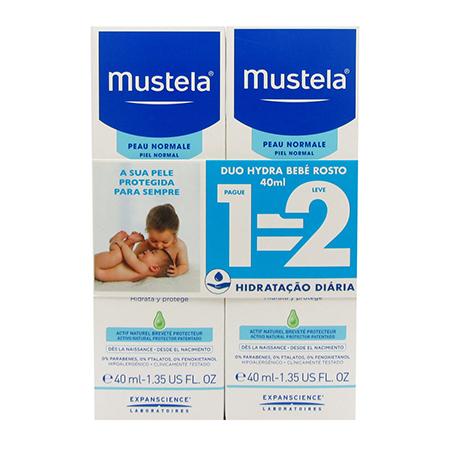 Mustela Bebé Creme Rosto 40 ml com Oferta de 2ª Embalagem