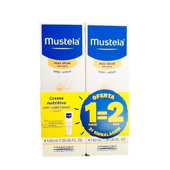 Mustela Bebé Cold Cream Nutri-Protetor Rosto 40 ml com Oferta de 2ª Embalagem