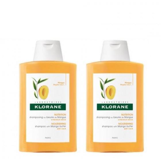 Klorane Duo Champô nutritivo Cabelo Seco 2 x 400 ml com Desconto de 8€