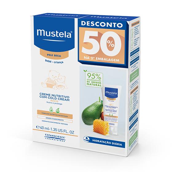 Mustela Bebé Cold Cream Nutri-Protetor Rosto 40 ml com Desconto na 2ª Embalagem