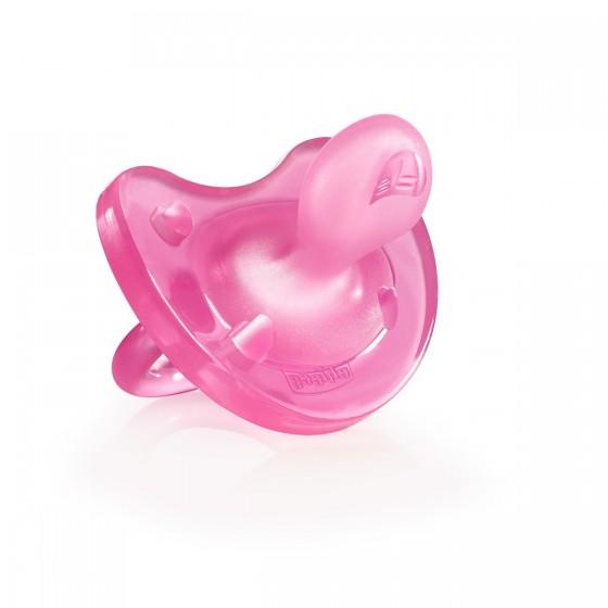 Chicco Chupeta Physio Soft Sil Pink 0-6m