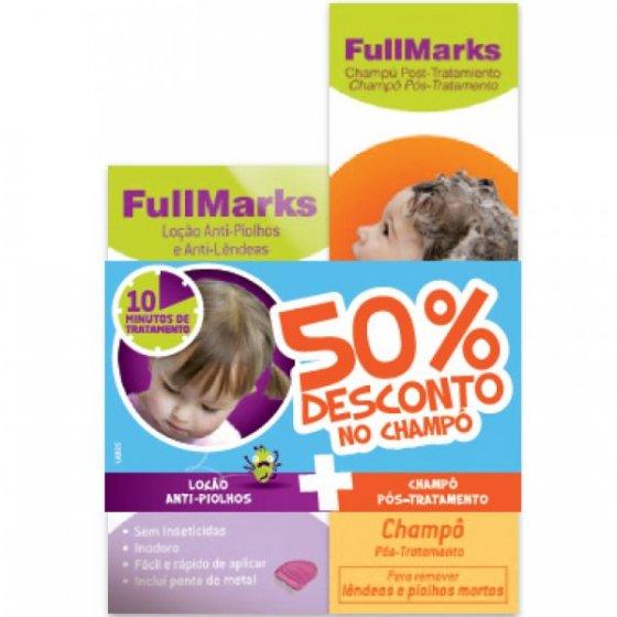 FullMarks Loçăo Piolhos/Lendeas + Champô Pós tratamento com Desconto de 50%