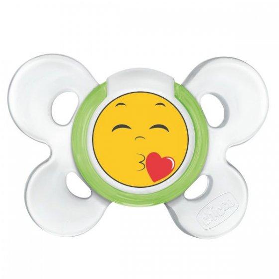 Chicco Chupeta Physio Comfort Smile Silicone 6-12m Verde