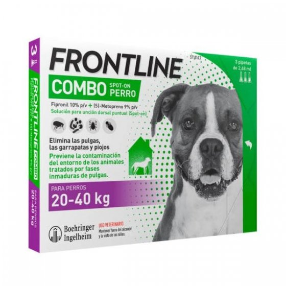 Frontline Combo Cão 20-40Kg 3 Pipetas