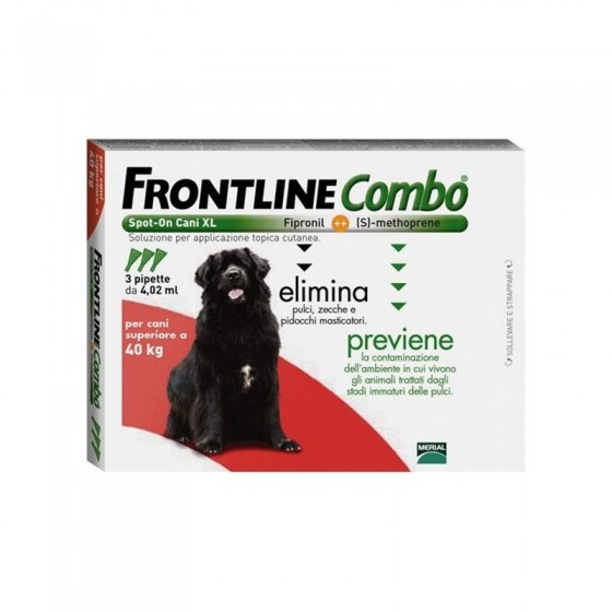 Frontline Combo Sol Cao >40kg 4,02ml X3  sol unçăo punctif VET