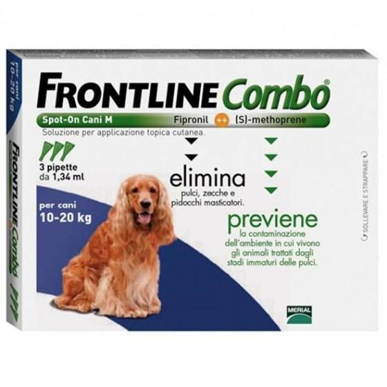 Frontline Combo Sol Cao 10-20 Kg 1,34mlx1 sol unçăo punctif VET