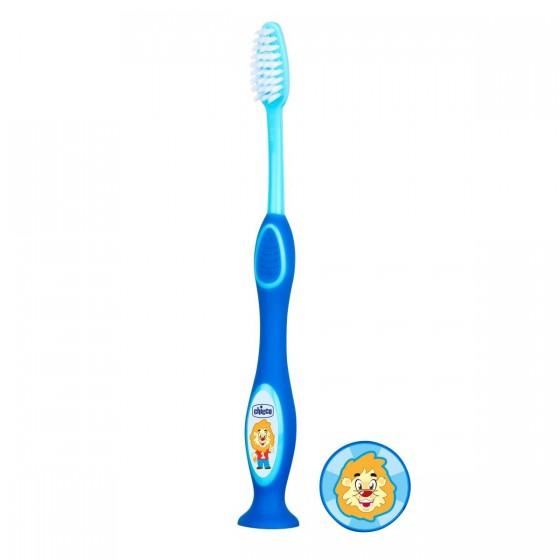 Chicco Escova de Dentes de Leite Azul 3-6A