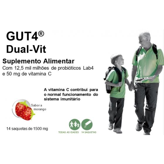 Gut4 Dual-Vit Saq Po Morang X14 pó sol oral saq