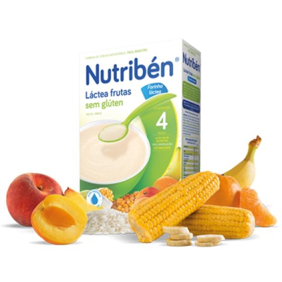 Nutriben Farinhas Fruta Lactea S/Glut 300g