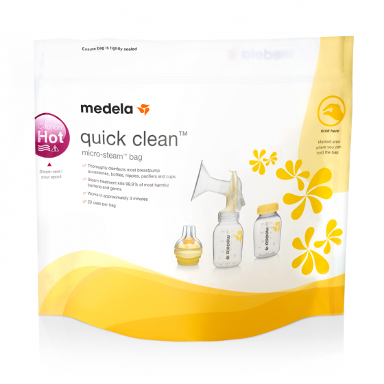 Medela Quickclean - Sacos para esterilizar em micro-ondas:5unid.